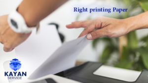 Right printing paper